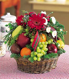 Fruit U0026 Flowers Basket: Flower Petal.com   Send Flowers Online, Same Day  Flower Delivery