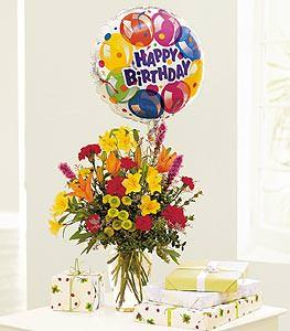 Birthday Balloon Bouquet Flower Petal