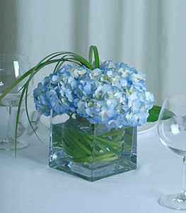 French Blue And Gold Floral Arrangements Blue Wedding Flowers Centerpieces Red Hydrangea