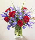 Iris and Red Rose BouquetHIFF78