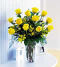 Dozen Yellow RosesOHTF37-1