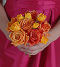 Appearing as gorgeous as a sunset on a warm summer night, yellow and orange roses present a stunning combination.
